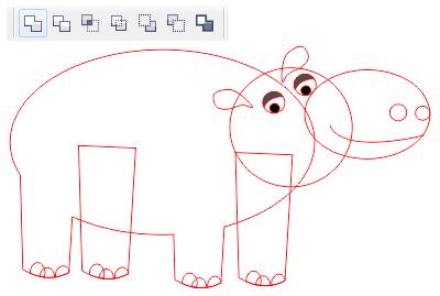 16. langkah-langkah membuat hewan di corel draw
