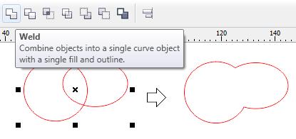 2. cara mengkombinasikan objek di coreldraw