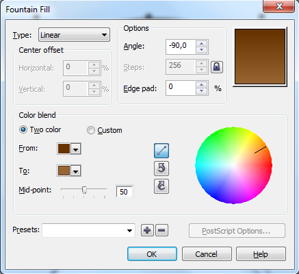 20. fountain fill coreldraw