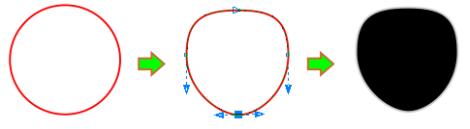 20. mengedit lingkaran di coreldraw