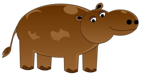 23. Vektor kuda nil - Hippopotamus vector