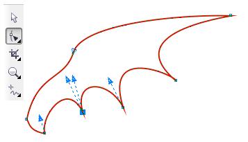 25. mengedit sayap hewan di coreldraw
