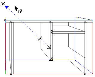 3. cara mendesain kerangka meja di corel draw