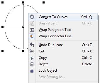 3. convert to curves pada coreldraw