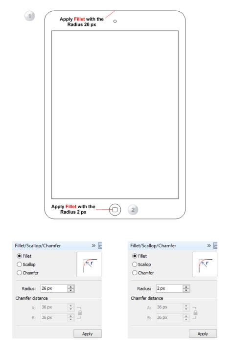 4. cara membuat iphone dengan coreldraw