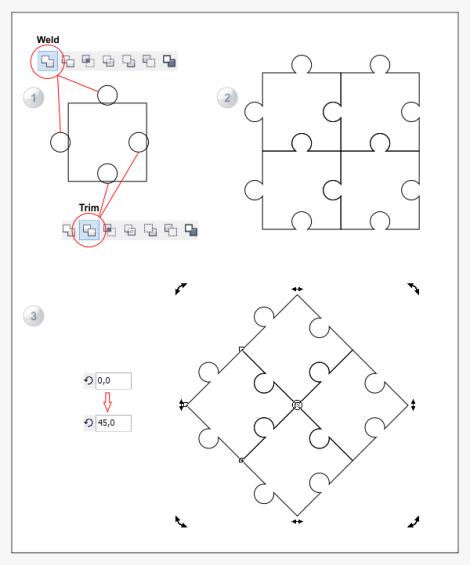 4. cara membuat puzzle dengan corel draw