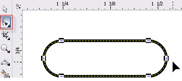 4. cara membuat sudut tumpul di coreldraw