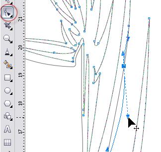 4. cara mengedit lekukan dengan shape tool