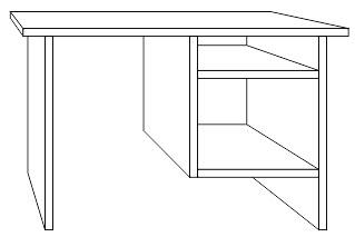 4. cara menggambar meja di coreldraw dengan mudah