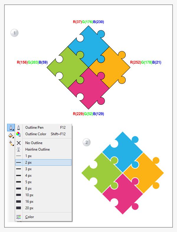 Cara Membuat Puzzle Desain di CorelDraw | Keripik Citul