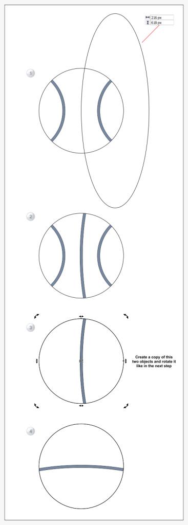 6. cara menggambar bola di coreldraw