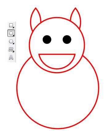 6. menggambar perut hewan
