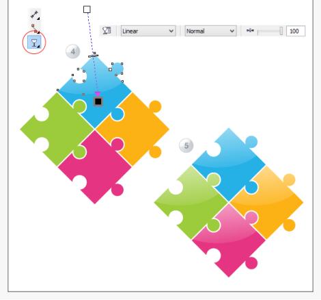 7. cara membuat bongkahan puzzle