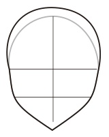 7. membuat bagian kepala manga atau anime dengan coreldraw