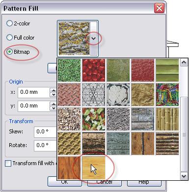8. cara memberi gambar bitmap ke dalam objek di coreldraw