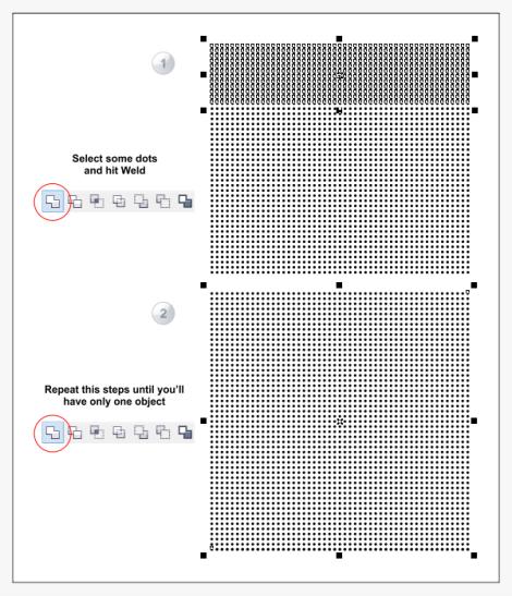 9. cara membuat efek titik-titik di coreldraw