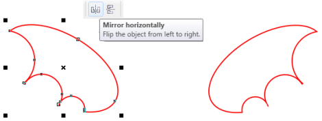 9. cara menggambar sayap kalong di coreldraw
