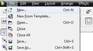 1. cara membuat file baru di coreldraw
