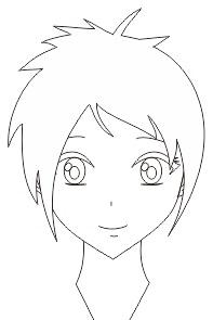 1. wajah manga dan anime yang dibuat dengan coreldraw