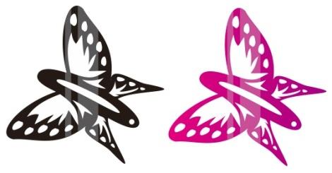 11. jepitan rambut kupu-kupu