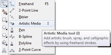 2. artistic media coreldraw