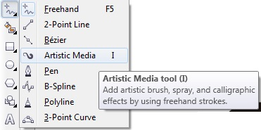 2. artistic media coreldraw