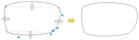 2. membentuk kacamata dengan coreldraw