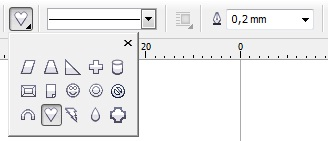 3. love shape coreldraw