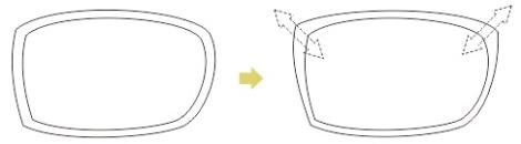 3. membuat frame kacamata dengan coreldraw
