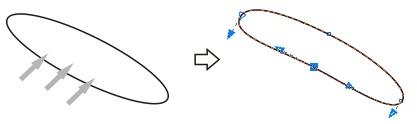 3. shaping ellipse in corel