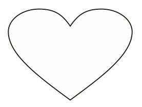 4. gambar hati, love shape, coreldraw