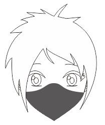 5. cara membuat masker manga dan anime dengan coreldraw