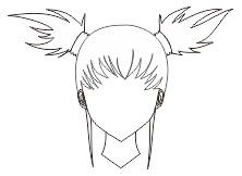 5. contoh ikat rambut kuncir dua