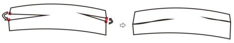 5. menempatkan dua node di titik yang sama