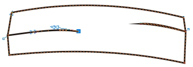 6. penggabungan dua garis untuk headband
