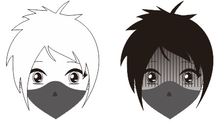 7. cara membuat karakter manga dan anime yang menggunakan masker