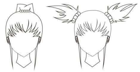 8. ikat rambut dari manik-manik