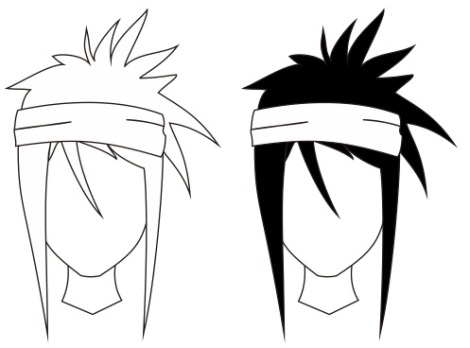 8. manga and anime character using headband