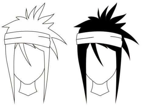8. manga and anime character using headband