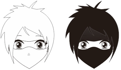 8. pembuatan karakter anime dan manga full masker