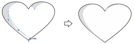 8. shaping heart coreldraw