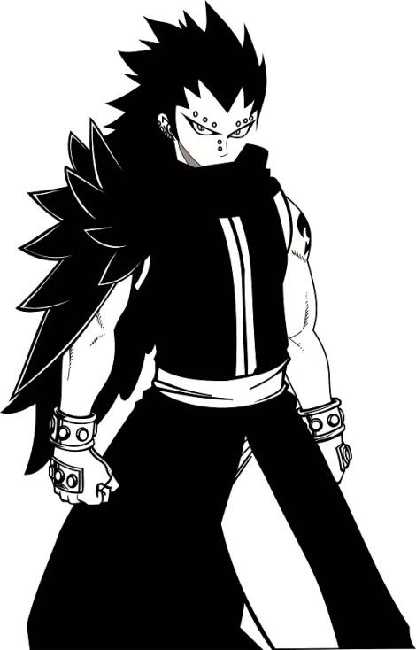 gajeel fairy tail anime vector
