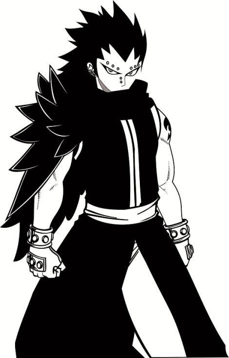 gajeel fairy tail anime vector