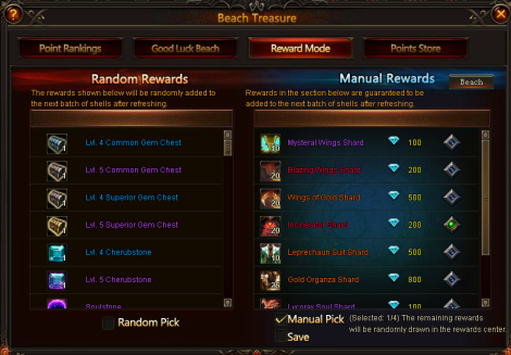 2. beach treasure - reward mode - league of angels 2