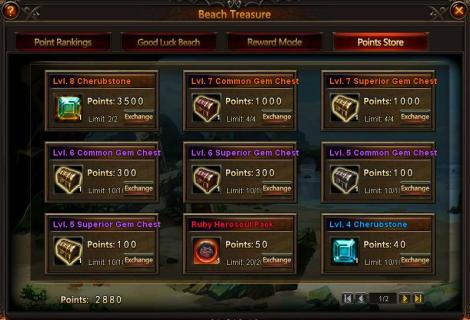 5. beach treasure  - point store - league of angels