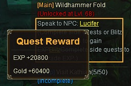 10. main quest reward - league of angels