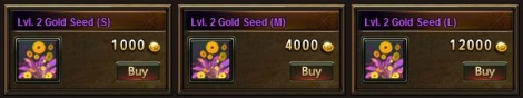 2. gold seed plant - league of angels