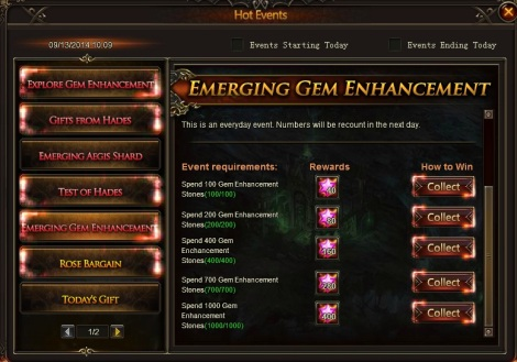 3. Emerging gem enhancement - league of angels