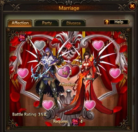 3. marriage system - league of angels