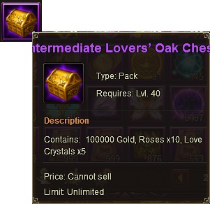 36. lover's oak chest